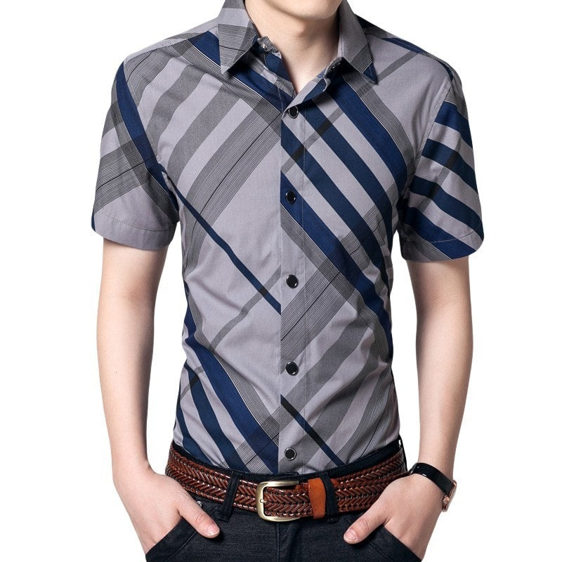 Hot Summer Striped Collar Shirts - Casual Shirts - eDealRetail - 1