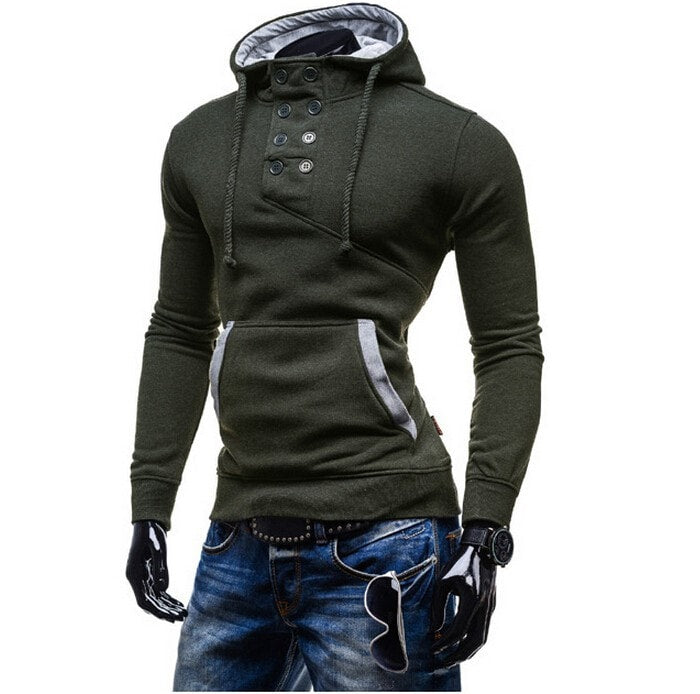 2016 Stylish Collar Button Hoodie - Hoodies - eDealRetail - 12