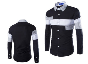 2016 European Striped Long Sleeve Dress Shirts - Dress Shirts - eDealRetail - 9