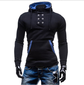 2016 Stylish Collar Button Hoodie - Hoodies - eDealRetail - 5
