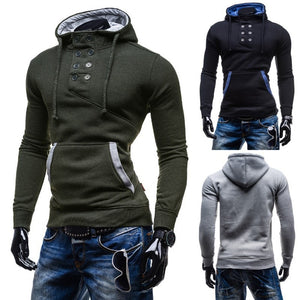 2016 Stylish Collar Button Hoodie - Hoodies - eDealRetail - 2