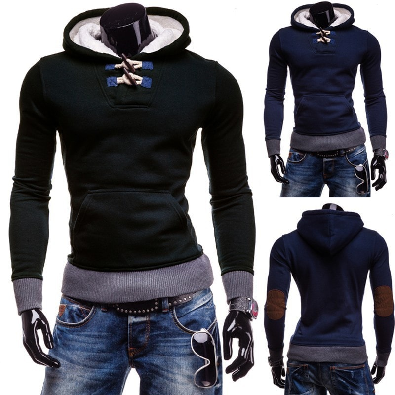 Trendy Horn Button Pullover Hoodie - Hoodies - eDealRetail - 1