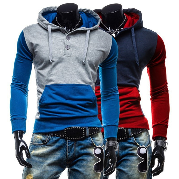 Trendy Two-Tone Sweatshirt Pullovers - Hoodies - eDealRetail - 3