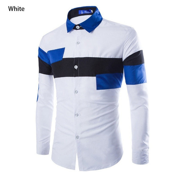 2016 European Striped Long Sleeve Dress Shirts - Dress Shirts - eDealRetail - 3