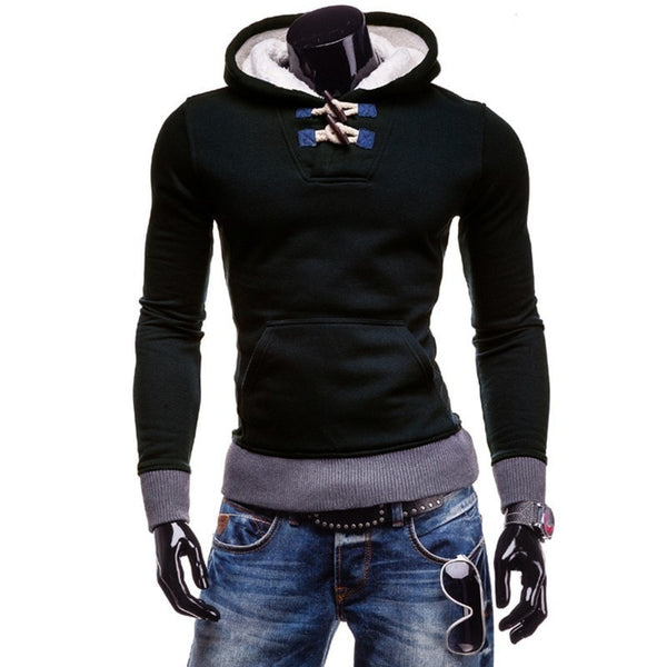 Trendy Horn Button Pullover Hoodie - Hoodies - eDealRetail - 2