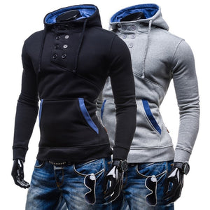 2016 Stylish Collar Button Hoodie - Hoodies - eDealRetail - 3