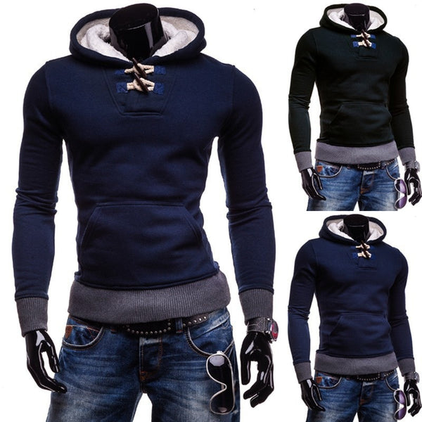 Trendy Horn Button Pullover Hoodie - Hoodies - eDealRetail - 3