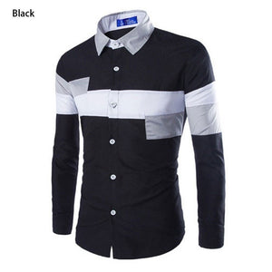 2016 European Striped Long Sleeve Dress Shirts - Dress Shirts - eDealRetail - 4