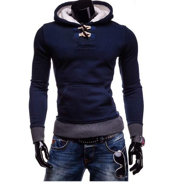 Trendy Horn Button Pullover Hoodie - Hoodies - eDealRetail - 4