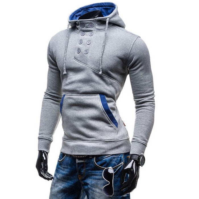 2016 Stylish Collar Button Hoodie - Hoodies - eDealRetail - 8