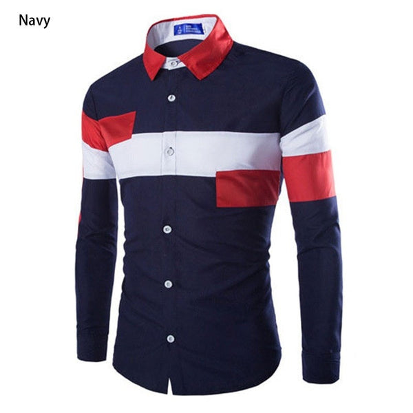 2016 European Striped Long Sleeve Dress Shirts - Dress Shirts - eDealRetail - 5