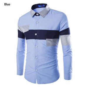 2016 European Striped Long Sleeve Dress Shirts - Dress Shirts - eDealRetail - 6