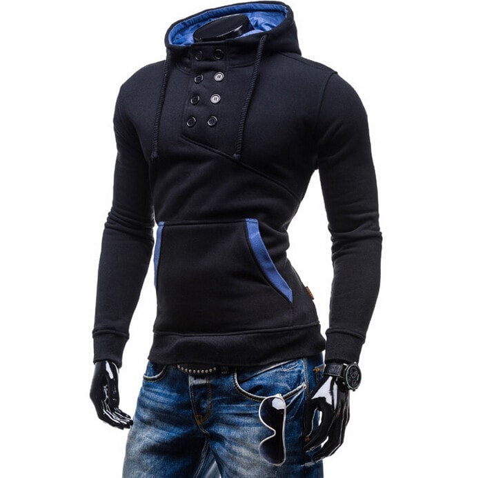 2016 Stylish Collar Button Hoodie - Hoodies - eDealRetail - 7