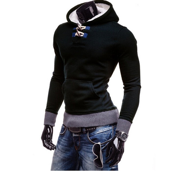 Trendy Horn Button Pullover Hoodie - Hoodies - eDealRetail - 6