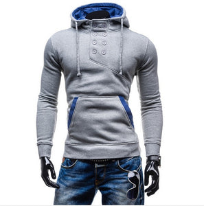 2016 Stylish Collar Button Hoodie - Hoodies - eDealRetail - 4