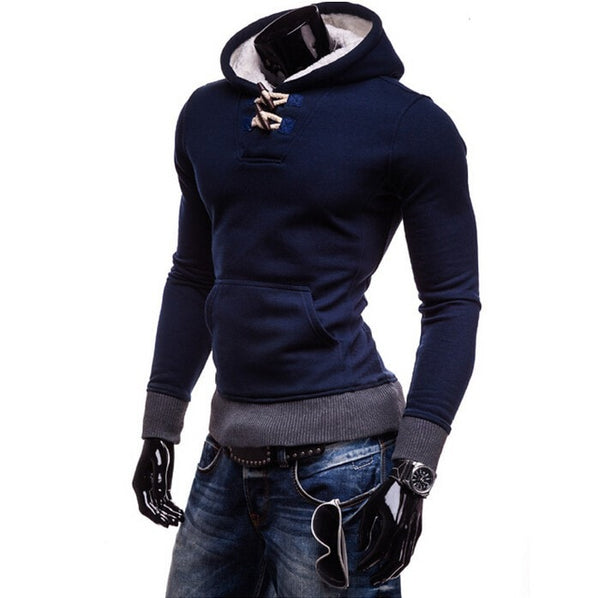 Trendy Horn Button Pullover Hoodie - Hoodies - eDealRetail - 7