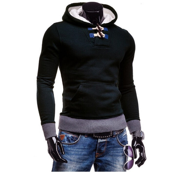 Trendy Horn Button Pullover Hoodie - Hoodies - eDealRetail - 8