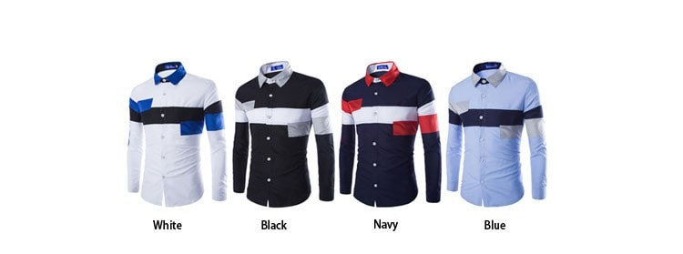 2016 European Striped Long Sleeve Dress Shirts - Dress Shirts - eDealRetail - 12