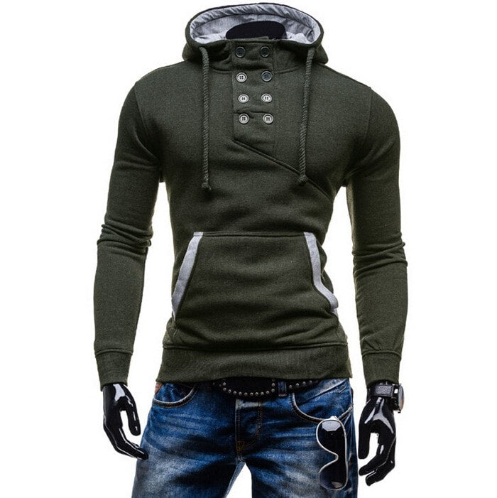 2016 Stylish Collar Button Hoodie - Hoodies - eDealRetail - 6