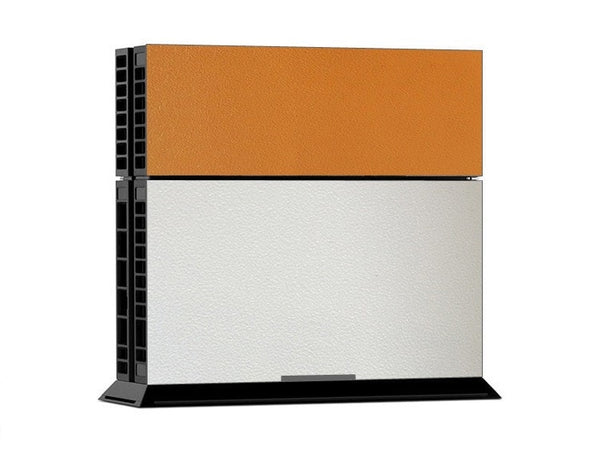 Orange White Leather Print PS4 Skin + 2 Controller Skins - PS4 Skins - eDealRetail - 2