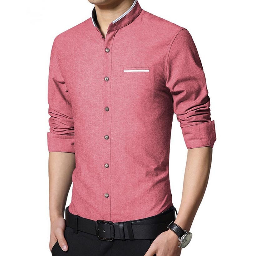 Long Sleeve Korean Style Business Shirts - Dress Shirts - eDealRetail - 1