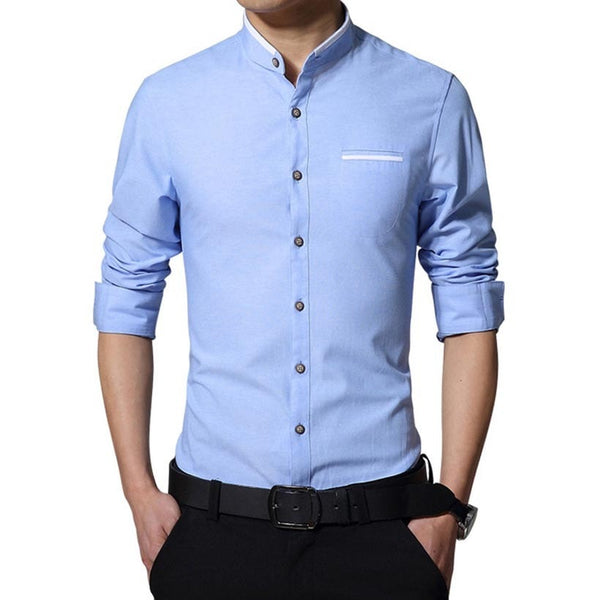 Long Sleeve Korean Style Business Shirts - Dress Shirts - eDealRetail - 2