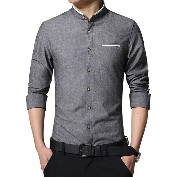 Long Sleeve Korean Style Business Shirts - Dress Shirts - eDealRetail - 3