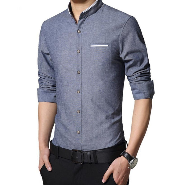 Long Sleeve Korean Style Business Shirts - Dress Shirts - eDealRetail - 4
