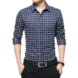 Long Sleeve Plaid Collar Shirts - Dress Shirts - eDealRetail - 3