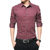 Long Sleeve Plaid Collar Shirts - Dress Shirts - eDealRetail - 2