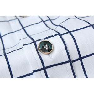 Long Sleeve Plaid Collar Shirts - Dress Shirts - eDealRetail - 9