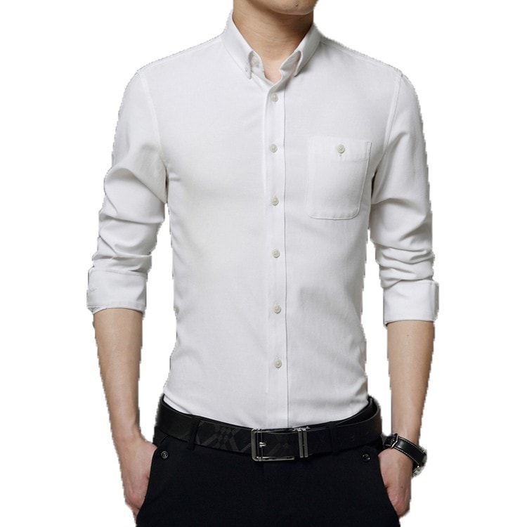 2016 Long Sleeve Solid Color Dress Shirt - Dress Shirts - eDealRetail - 4