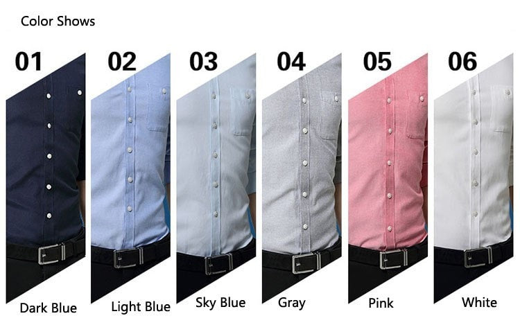 2016 Long Sleeve Solid Color Dress Shirt - Dress Shirts - eDealRetail - 9