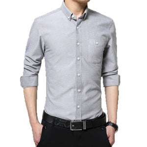 2016 Long Sleeve Solid Color Dress Shirt - Dress Shirts - eDealRetail - 7