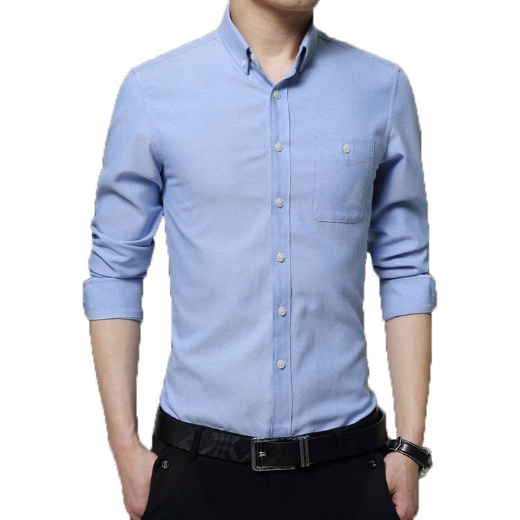 2016 Long Sleeve Solid Color Dress Shirt - Dress Shirts - eDealRetail - 8