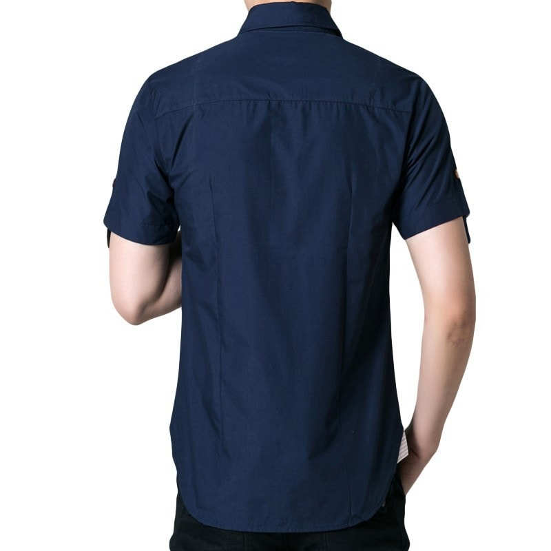 Men's Short Sleeved Button Shirts - Casual Shirts - eDealRetail - 4