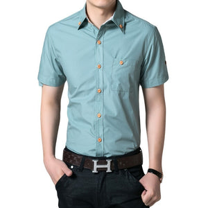 Men's Short Sleeved Button Shirts - Casual Shirts - eDealRetail - 5
