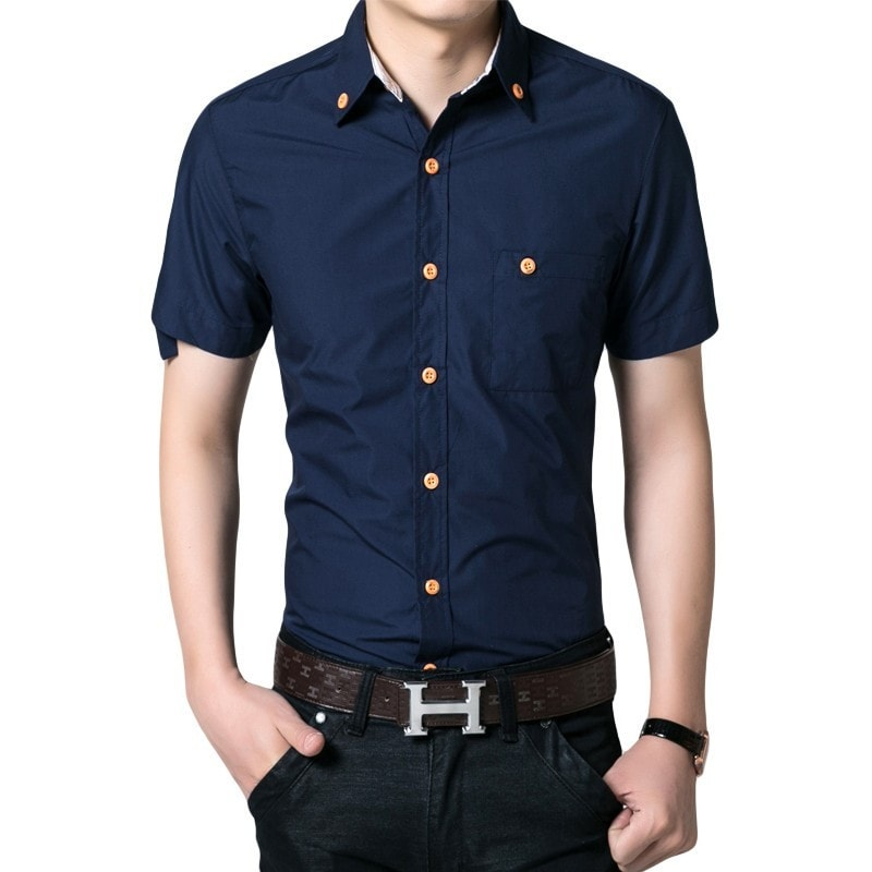 Men's Short Sleeved Button Shirts - Casual Shirts - eDealRetail - 1