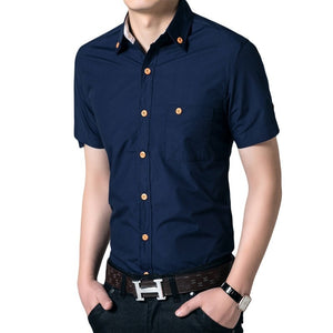 Men's Short Sleeved Button Shirts - Casual Shirts - eDealRetail - 2