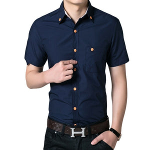 Men's Short Sleeved Button Shirts - Casual Shirts - eDealRetail - 3