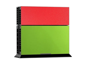 Red/Green Leather Print PS4 Skin + 2 Controller Skins - PS4 Skins - eDealRetail - 2