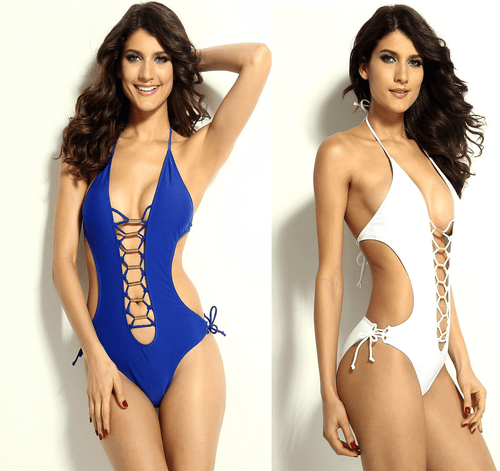 Sexy One Piece Open Front Swimwear - Swimsuit - eDealRetail - 1