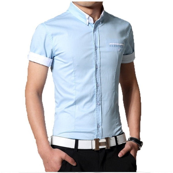 2016 Short Sleeve Designer Casual Shirts - Casual Shirts - eDealRetail - 8
