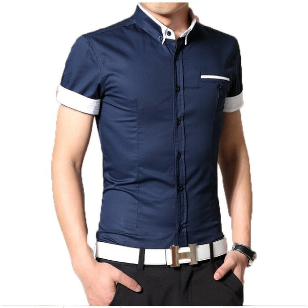 2016 Short Sleeve Designer Casual Shirts - Casual Shirts - eDealRetail - 10