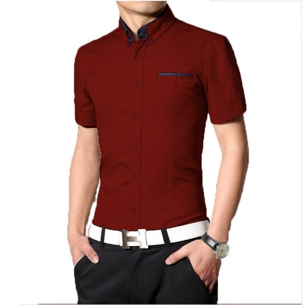 2016 Short Sleeve Designer Casual Shirts - Casual Shirts - eDealRetail - 6