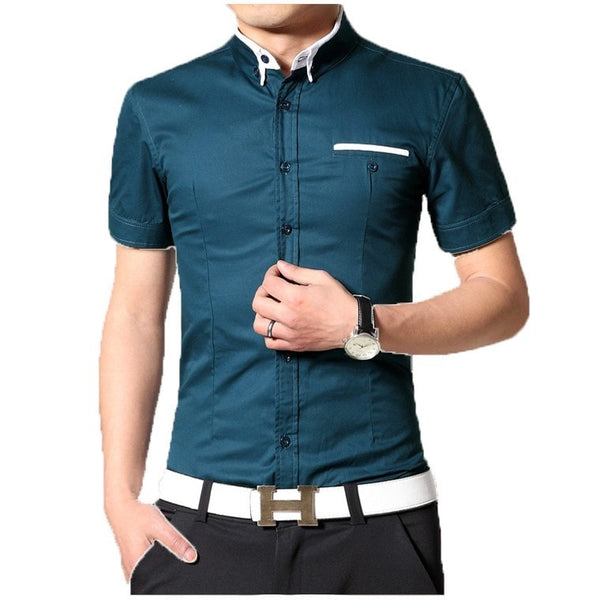 2016 Short Sleeve Designer Casual Shirts - Casual Shirts - eDealRetail - 2