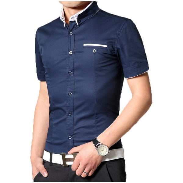 2016 Short Sleeve Designer Casual Shirts - Casual Shirts - eDealRetail - 9