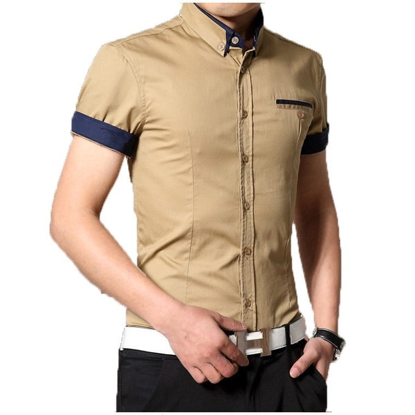 2016 Short Sleeve Designer Casual Shirts - Casual Shirts - eDealRetail - 3