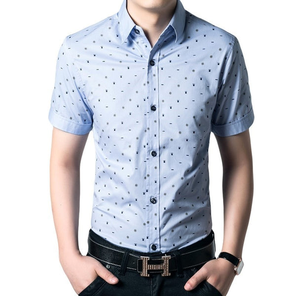 Short Sleeve Leisure Shirts For Men - Casual Shirts - eDealRetail - 5