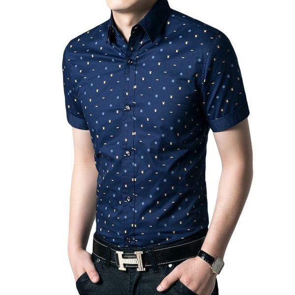 Short Sleeve Leisure Shirts For Men - Casual Shirts - eDealRetail - 1